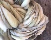 Hand spun, bulky, yarn, 100 yards, soft, wool, hand dyed, knitting, crochet, weaving, fiber arts, big yarn, yospun, art yarn
