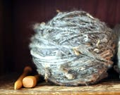 Yospun Natural Grey Thick and Thin Curly Blanket Yarn