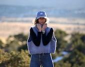 Handknit Big Bulky Vest, warm, soft, Wool, knit sweater, Handmade, USA, Over sized Sweater