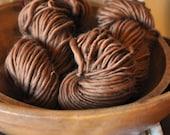 Bulky Yarn Caramel Brown Hand spun Reddish Brown Silky Soft Wool Warm knitting supplies crochet supplies Hand Spun