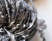 Bulky Art Yarn Curly Fleece Handspun Grey Soft fluffy blanket knitting supplies doll hair crochet supplies wool Big Needle Knitting