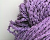 Handdyed, Hand dyed, Yarn, Purple, Boucle, Thick and Thin, Worsted Weight, Wool, Yarn, Yospun, Knitting, Crochet