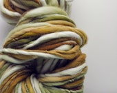 Handspun, Hand dyed, Yarn, Green, Light Green, Moss Green, Grey, Thick and Thin, Big, Bulky, Wool, Yarn, Yospun, Knitting, Crochet