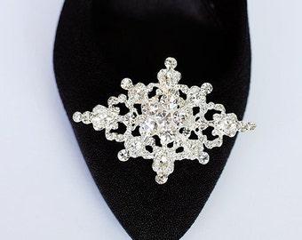 Bridal Shoe Clips Crystal Rhinestone Shoe Clips Wedding Party (Set of 2) SC013LX