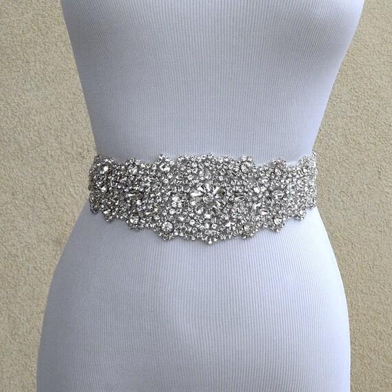 Wedding Gown Belts And Sashes: Bridal Sash Belt Wedding Dress Sash Belt Rhinestone