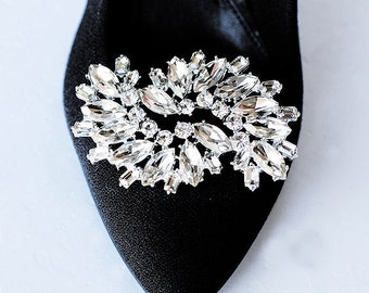 Bridal Shoe Clips Crystal Rhinestone Shoe Clips Wedding Party (Set of 2) SC005LX