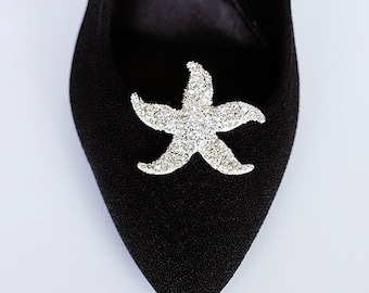 Bridal Shoe Clips Crystal Rhinestone Shoe Clips Starfish Beach Wedding Party (Set of 2) SC011LX