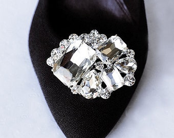 Bridal Shoe Clips Crystal Rhinestone Shoe Clips Wedding Party (Set of 2) SC008LX