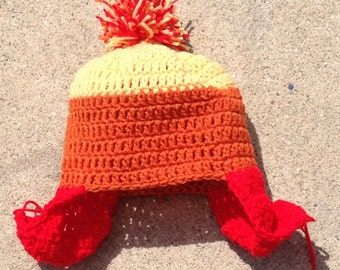 Orange, yellow, and red hat - nerd hat - gerk hat - scfi hat - free shipping