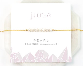 June Birthstone Necklace, Pearl Necklace Choker, Pearl Bar Necklace Gold, Freshwater Pearl Necklace, Dainty Pearl, Personalized Gifts, NK-DB