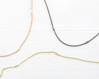 Minimal Chain Necklace, Delicate Layering Necklace, Simple Modern Jewelry, Gold Choker, Festival Jewelry, Plain Chain Choker, Gifts for Her