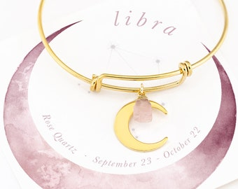 Dreamy modern jewellery Astrological delicate dainty design Adjustable celestial star and moon bracelet