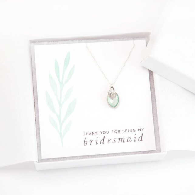 Custom Bridesmaid Initial and Birthstone Necklace, Bridesmaid Proposal, Personalized Gift Necklace, Sterling Silver, Dainty Gemstone, NK-BC