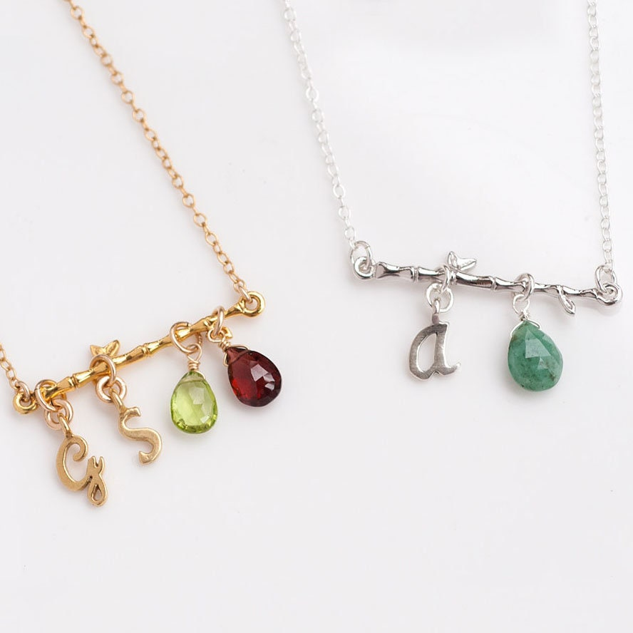 Christmas Gift for New Mom, Twig Branch Birthstone Necklace ...