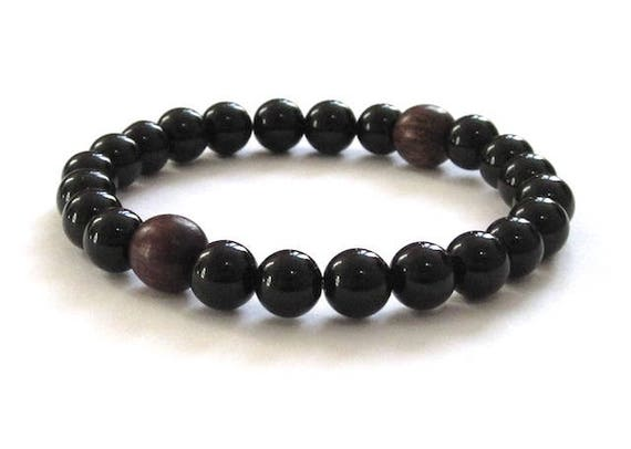 Mens Mala Bracelet Rosewood Wood Beads Bracelet Holiday Gift Etsy