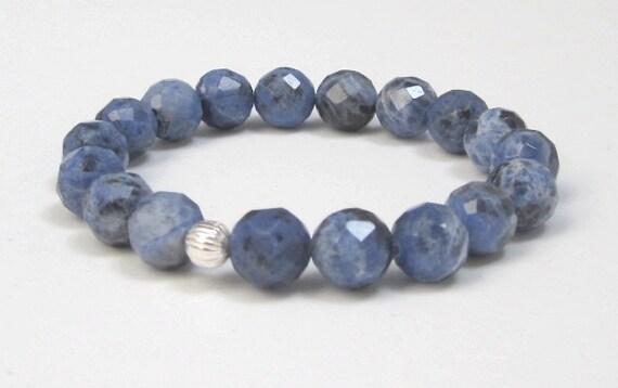 Calming Stress Relief Power Bead Bracelet Healing Crystal Gemstone Sodalite