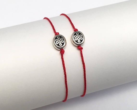Gift Set Of Celtic Knot Endless Love Symbol Lucky Natural Silk Etsy