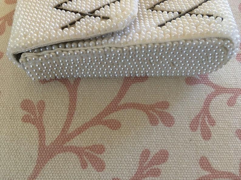 Vintage 60/'s PARTY READY PURSE White Beads Bridal Attire So Pretty