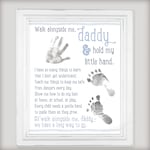 Father's Day Gift! Walk Alongside Me, Daddy - 8x10 & 11x14 DIY Printable File - Personalize with your child's prints!