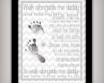 photo regarding Walk With Me Daddy Poem Printable known as Stroll Along with Me Daddy 8x10 11x14 Printable Prompt Etsy