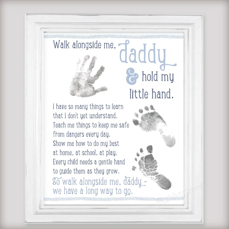 Walk Alongside Me Daddy Art Print  Personalize with image 0