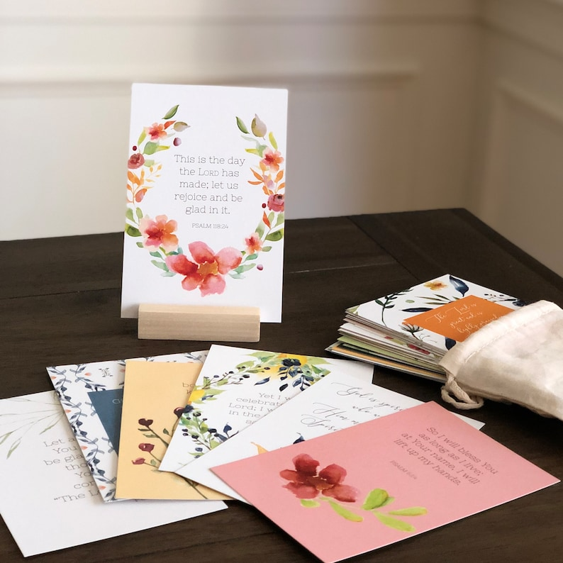 A Year of Joy & Worship Scripture Memory Verse Cards  Set of image 0