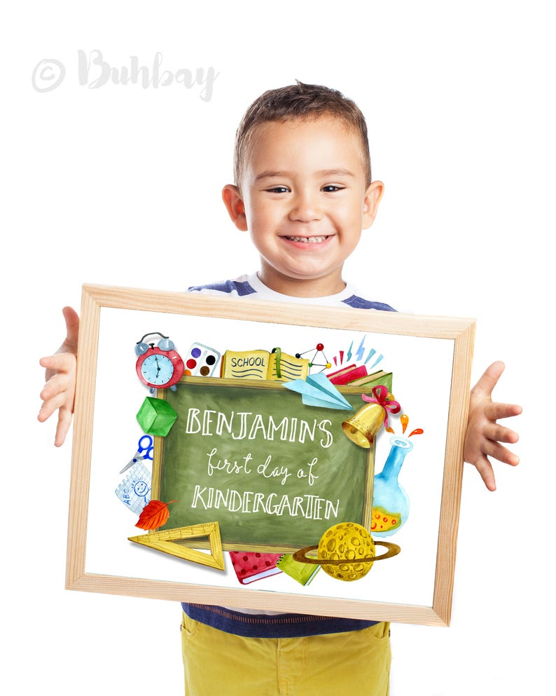 Back to School Sign. First Day of School Sign. Personalized image 0