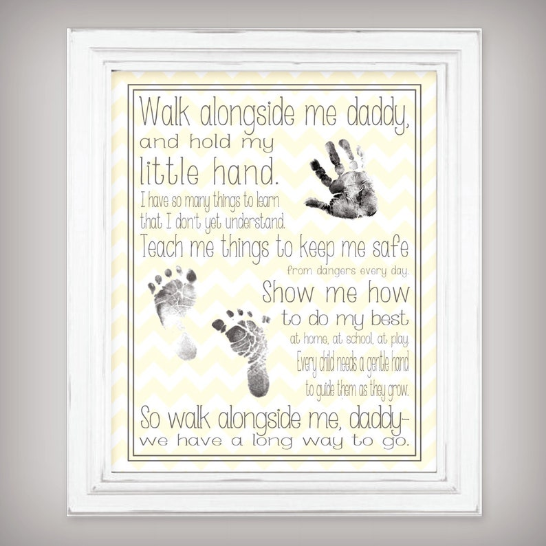 Walk Alongside Me Daddy  11x14 Digital Download  image 0