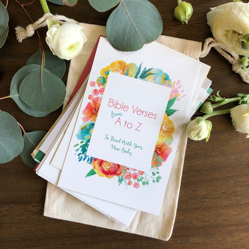 Spring ABC Bible Verse Cards for Baby Girl image 0