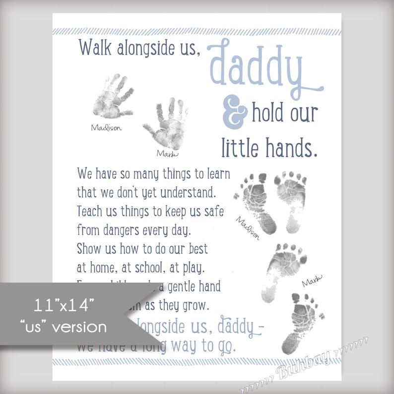 Walk Alongside US Daddy  11x14 Art Print  INSTANT DOWNLOAD image 0