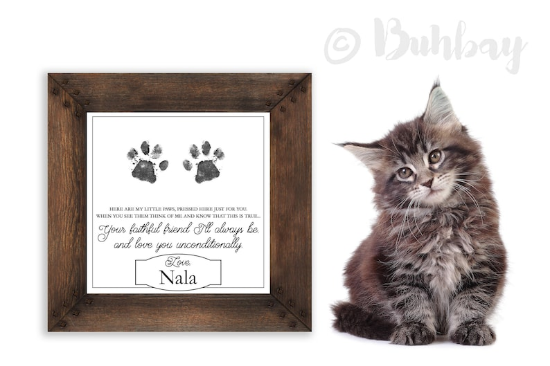 Faithful Friend Poem Gift from Kitten Cat Puppy or Dog to image 0