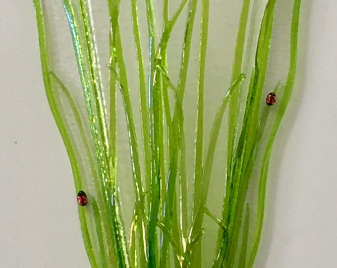 Spring Green Grass ,available with or without ladybugs, multiple sizes, prices start at