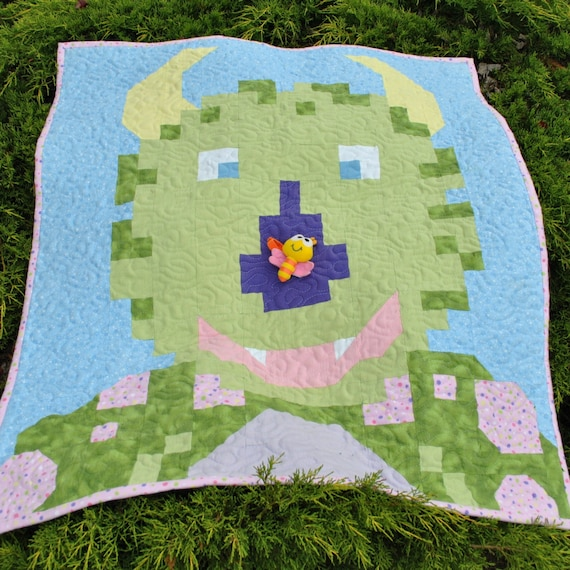 Monster Quilt Pattern Pdf Etsy