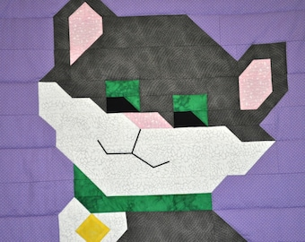 Cat Quilt Pattern with multiple sizes - PDF