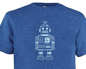 4528aa439 Robot Tshirt - Kids Retro Robot Geek Math Shirt - Tee - Youth Boy Shirt /  Super Soft Kids Tee - Soft PolyCotton Kids Tee Great gift for boy