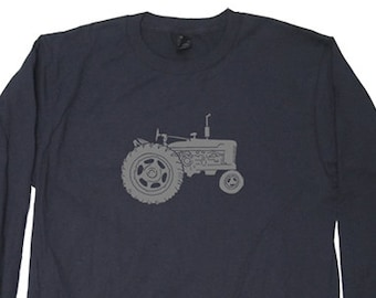 7c306224d Tractor Mens Long Sleeved Farmer Farming Shirt - Mens / Unisex Long Sleeved  Cotton Shirt - Size Small Medium Large XL 2XL Great Gift For Him