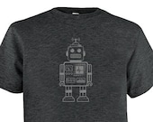 Robot Shirt - Retro Robot Kids T Shirt - Multiple Colors Available - Gift Friendly - PolyCotton Blended Tee