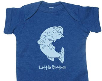 soft PolyCotton Fabric Bass Fish Baby Bodysuit Multiple Colors available Super Soft cute baby shirt