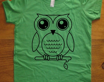 7fa4d401e Owl Shirt - Oscar the Owl T Shirt - 8 Colors Available - Kids Tshirt Sizes  2T, 4T, 6, 8, 10, 12 - Gift Friendly - Boys or Girls Owl TShirt