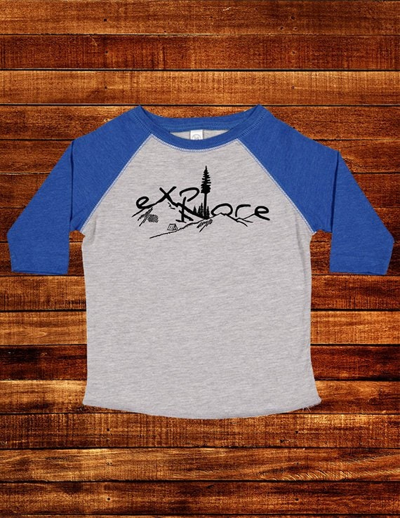 Mountain Rise Kids Jersey Raglan T-Shirt Children 3//4 Sleeve Baseball Shirt Top