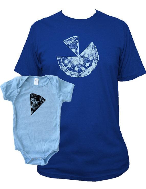 10809cda Matching Father Baby Shirts Pizza T shirts Fathers Day gift | Etsy