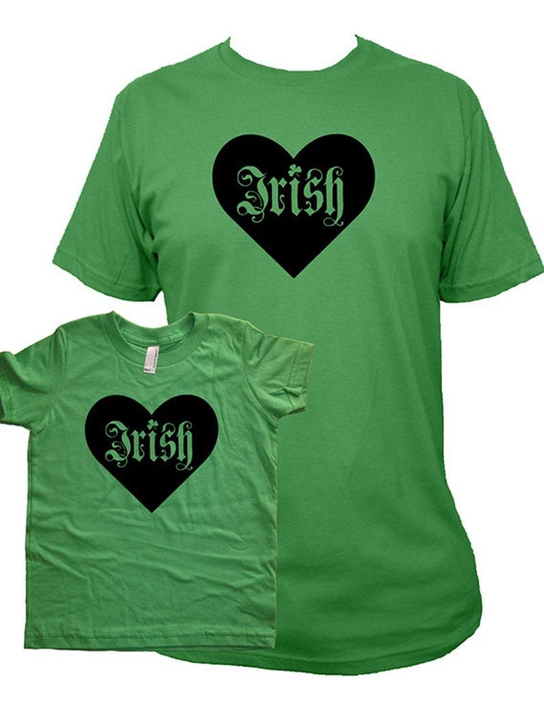 60953db90 St Patricks Day Matching Father Son or Daughter Shirts Irish | Etsy