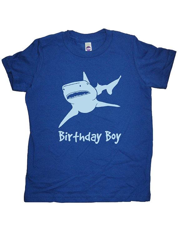 Birthday Shark Shirt Boy Tee Attack T