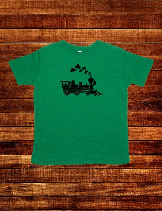 Patricks Shamrock Train Matching Dad Baby Shirts Sunshine Mountain Tees ST