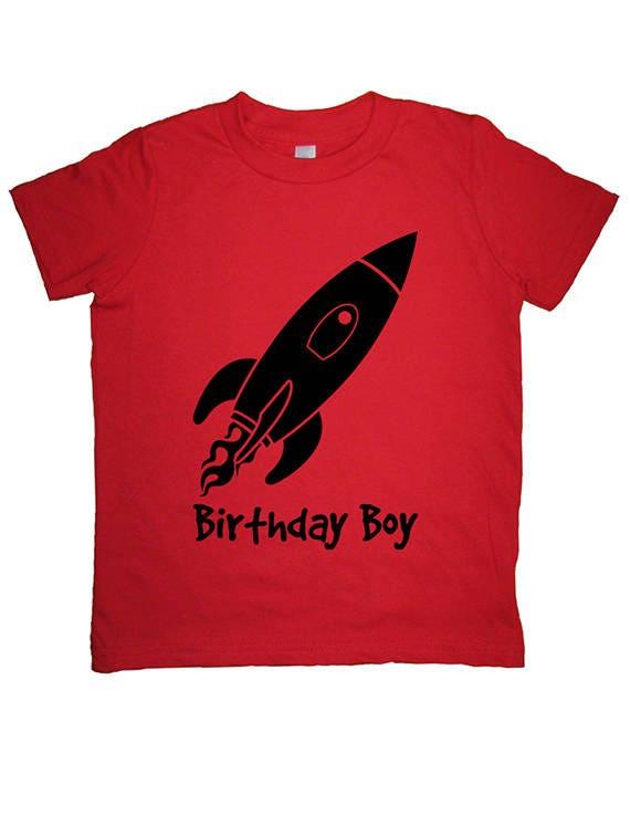 Rocket Birthday Boy Shirt Kids Shirt Outer Space Solar