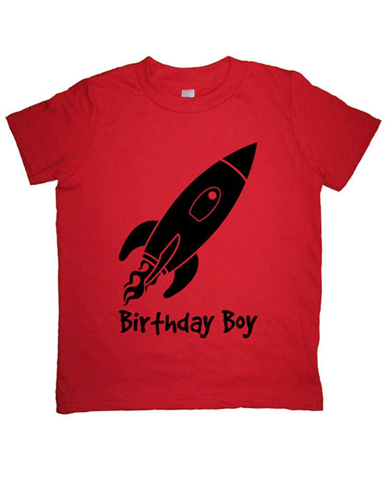 Rocket Birthday Boy Shirt Kids Outer Space Solar