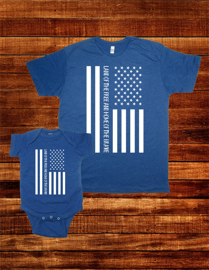 1751d050d July 4th Matching American Flag T Shirts Brave Free USA Fourth | Etsy