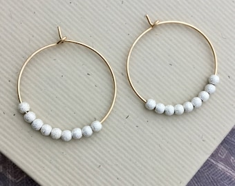 bf71f34503a Gold filled hoop earrings 25mm