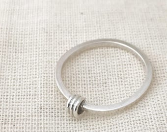 coil ring / delicate silver stacking ring