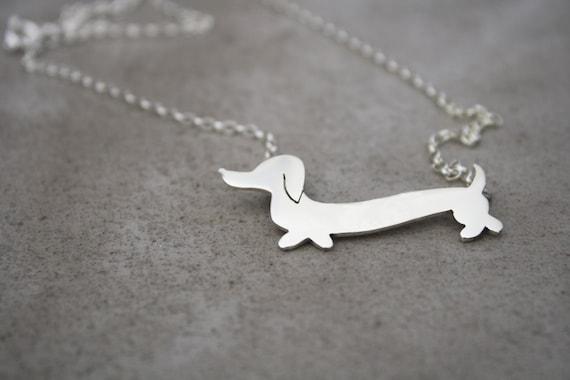 Dachshund Necklace Wiener Dog Jewelry Sausage Dog